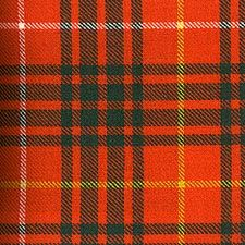 """Bruce Family Ancient Tartan - The """"ancient"""" or """"old colour"""" tartans are softer and lighter than their modern counterpart. The softer colours are indicative of the natural dyes made from vegatables, animal and mineral matter, the common ingredients of dyes before 1860. Further muting of the colours arose from repeated washings and years of harsh weather exposure."""