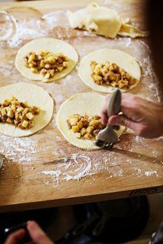 Maple glazed apple cheddar hand pies. | Farmhouse Table