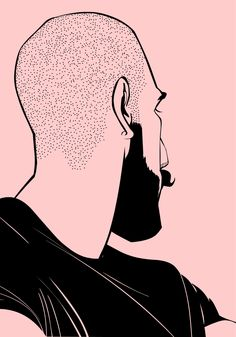pink #illustrazione #grafica #barba