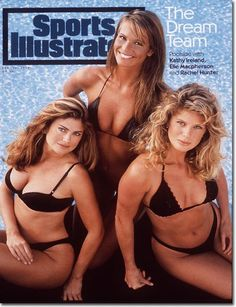 Supermodels in 1994...what happened to looking good at a REAL size?  There is so much beauty in this picture prior to photoshopping.