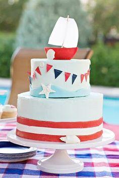 nautical birthday cake