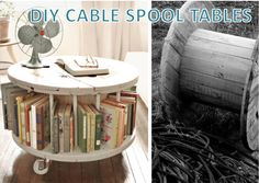 DIY cable spool tables