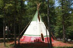North Georgia Canopy Tours tee pee camping