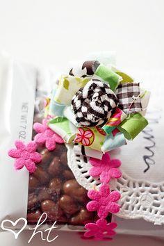 fabric hair bows - DIY