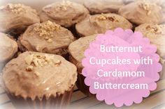 GF Butternut Cupcakes with Cardamom Buttercream