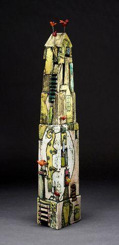 Artist Lisa Muller , clay sculpture