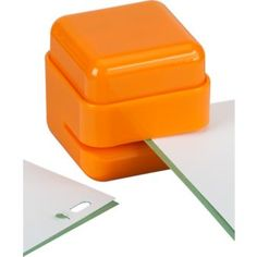 orange staple free stapler CB2 £5.82