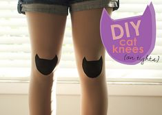 DIY: Cat Knee Pads (on tights)