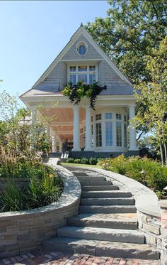 shingle style lake house. Click on the pic to see the rest of the house, you'll love the kitchen!