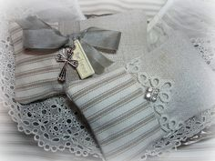 homespun linen and ticking lavender sachets