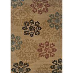 Indoor Beige Floral Rug (7'10 x 10') $122.39