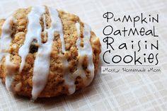 Pumpkin Oatmeal Raisin Cookies
