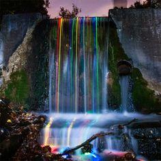 Long Exposure Neon Waterfalls