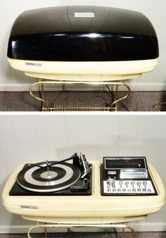 1970s Brother Charisma II, 4-Channel Matrix/Discrete Tabletop 8-Track Stereo with Turntable  AM-FM Radio
