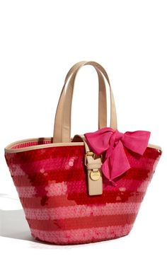 Juicy Couture 'Georgica Super Star' Sequin Straw Tote | Nordstrom - StyleSays