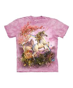 Pink Awesome Unicorn Tee - Toddler, Girls & Women by The Mountain #zulily #zulilyfinds