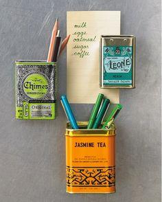 Tea Tin Magnets