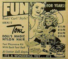 Toni Vintage Doll 1950s Advertisement by Christian Montone, via Flickr