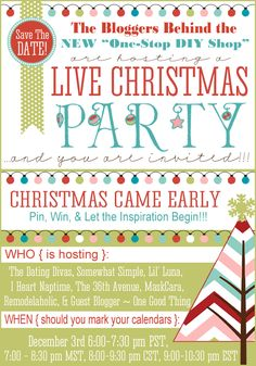 Mark your calendars for an amazing LIVE Christmas party on December 3rd! Everyone's invited!
