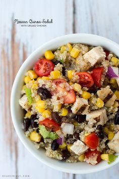 Mexican Quinoa Salad with Grilled Chicken (or without!) via @Crissy Page Page Page Page