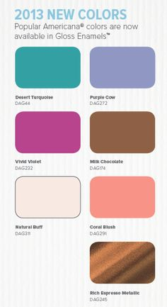 Our popular Americana colors are now available in our Gloss Enamels!