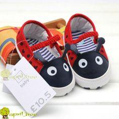 New Ladybug Toddler Baby Girl Mary Janes Crib Pram Shoes Soft Sole F20 ...