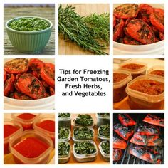 Tips for Freezing Garden Tomatoes, Fresh Herbs, and Vegetables