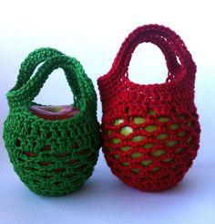 Mini Crochet Gift Bag Free Pattern