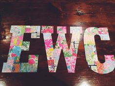 OBSESSED with these Lilly letters