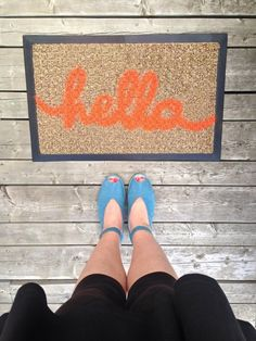 DIY Project Idea:  How to Customize a Plain Welcome Mat