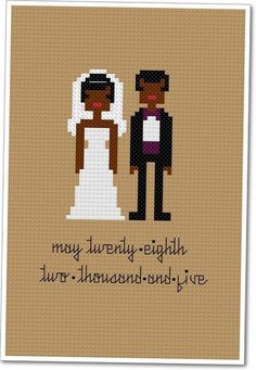 Bride & groom bead pattern by weelittlestitches