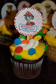 """Paw Patrol Cupcake Toppers, 2"""" circle labels, Paw Patrol Decoration Labels,Paw Patrol Goodie Bag Labels, Balloon Stickers on Etsy, $3.00"""