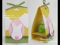 Stampin' Up! Scalloped Tag Topper Easter Bunny Truffle Treat by Barb Stamps