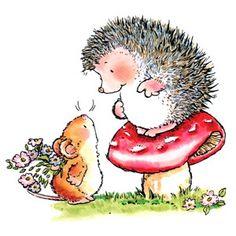 hedgehog, clipart, penni black