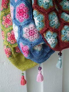 """African flower"" bags"