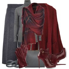 """""""Grey and Maroon"""" by..."""