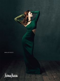 """Drew Barrymore for Neiman Marcus """"Art of Fashion"""" Campaign by Norman Jean Roy"""