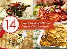 14 Make-Ahead, Freezer-Friendly Meals