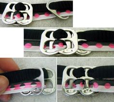 pop tab bracelets.. easy fun and u can use all different colors!