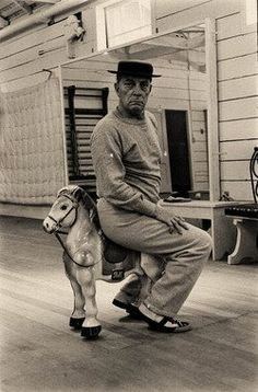 Love this picture of Buster Keaton, 1957