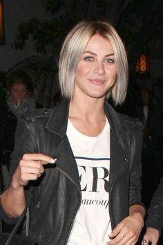 blunt bob with gray hair - chic!