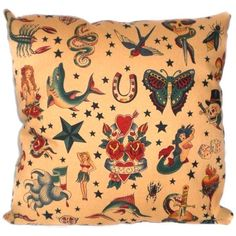 Tattoo Rockabilly Sailor Jerry Pillow Cushion. $14.00, via Etsy.