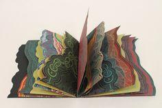 Bon Voyage colorful artist book by Su Tran, via Behance
