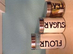 Made today with Hobby Lobby canisters and Cricut vinyl