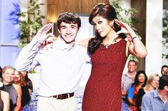 Ian Terry (Winner of Big Brother 14) and Julie Chen (Host)