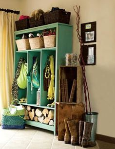 DIY Entryway/Mudroom on Pinterest