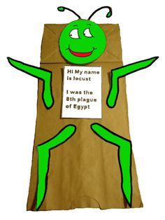 10 plagues craft, the ten plagues crafts, bibl craft, locust craft