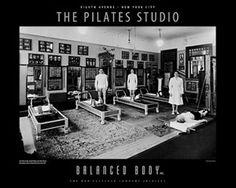 "Joe Pilates ""The Pilates Studio"" poster."