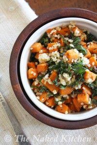 Sweet Potato, Kale and Bulgar   The Naked Kitchen