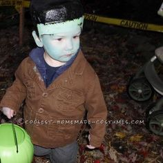 Coolest Last-Minute (Milk Gallon Jug Head) Frankenstein Costume... This website is the Pinterest of costumes
